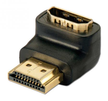 Adaptateur coudé HDMI femelle - HDMI mâle