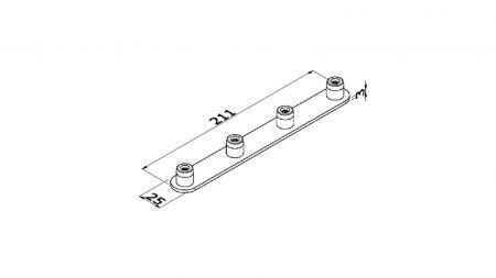 ALUVISION Connecteur 4P 180° LS30 C