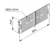 ALUVISION Monitor Mount D30 Vesa-8 Z