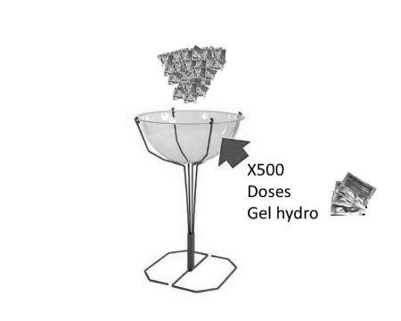Bac distributeur de doses gel Hydroalcoolique