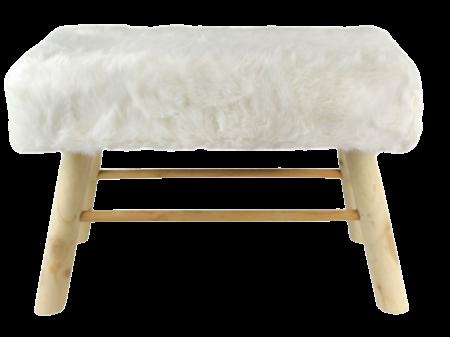 Banc fourrure blanche