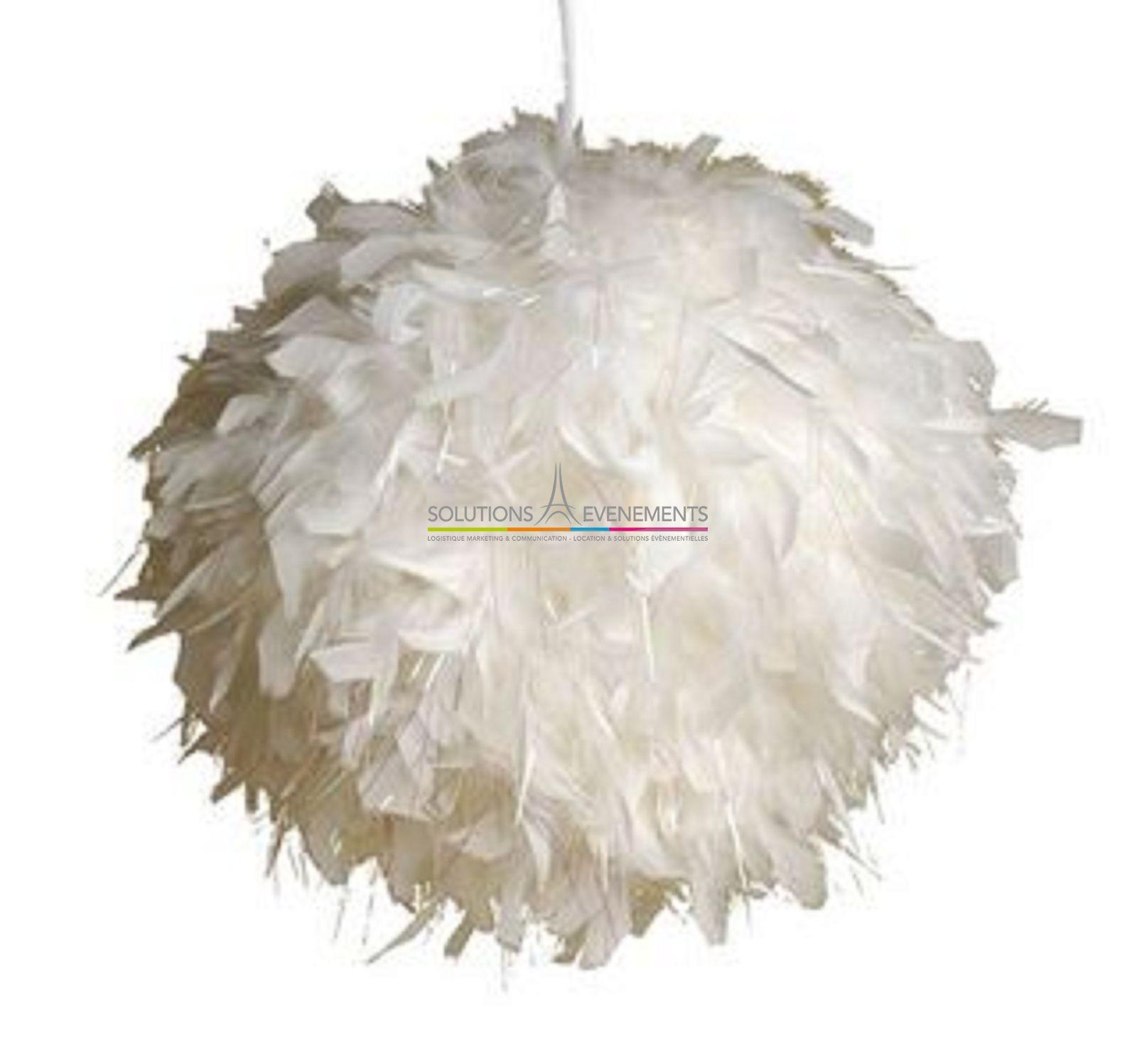 Boule De Plume A Suspendre location boule de plumes 50cm