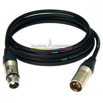 Câble xlr/xlr audio 3M