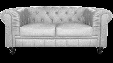 Canapé 2 places Chesterfield  gris argent