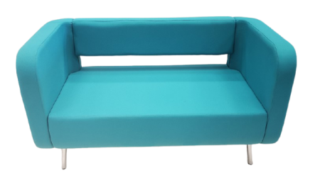 Canape 2 places Poppy bleu turquoise