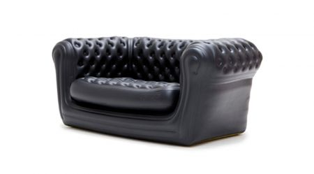 Canape Chesterfield Gonflable NOIR