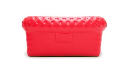 Canape Chesterfield Gonflable ROUGE