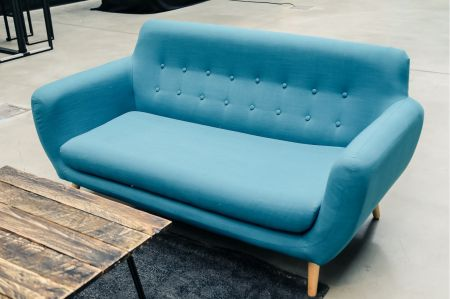 Canapé Copenhague bleu PETROLE