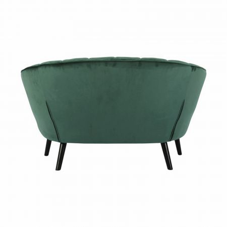 Canapé Corolle velours vert