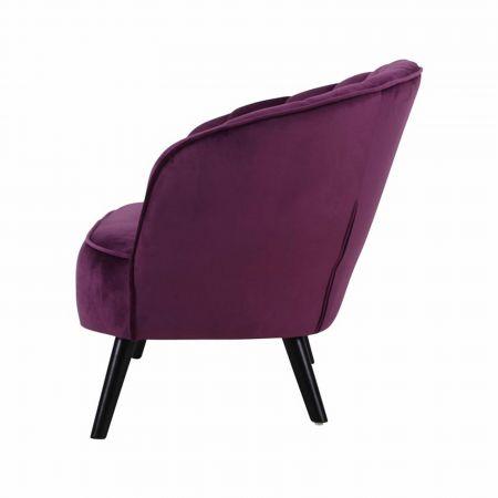 Canapé Corolle velours violet