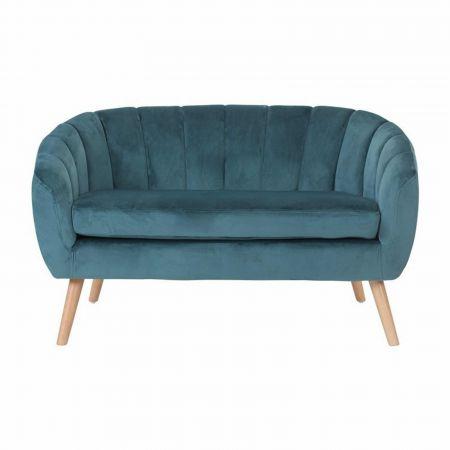 Canapé Juliette velours bleu
