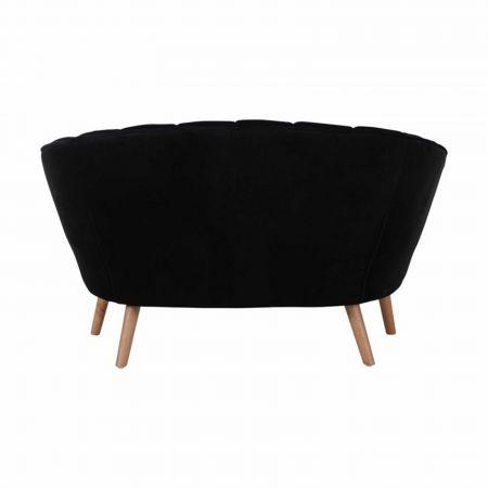 Canapé Juliette velours noir