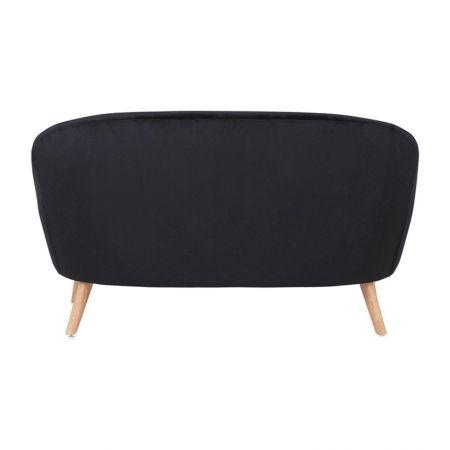 Canapé Malmo velours noir
