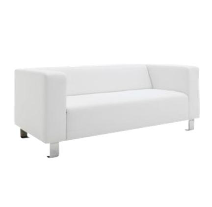 Canapé Smart simili cuir blanc