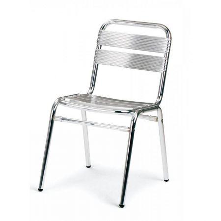 Chaise bistrot - Alu/Inox