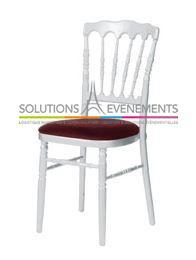 Chaise Napoleon blanche - bordeaux