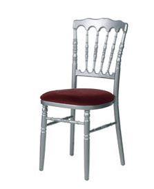 Chaise Napoleon grise - bordeaux