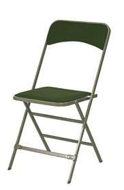 Chaise pliante velour vert Apolline