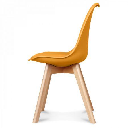 Chaise scandinave miel