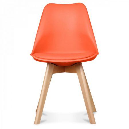 Chaise scandinave orange