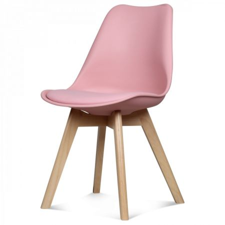 Chaise scandinave rose