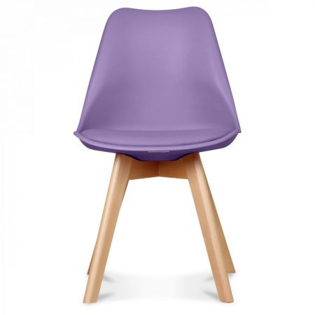Chaise scandinave violette