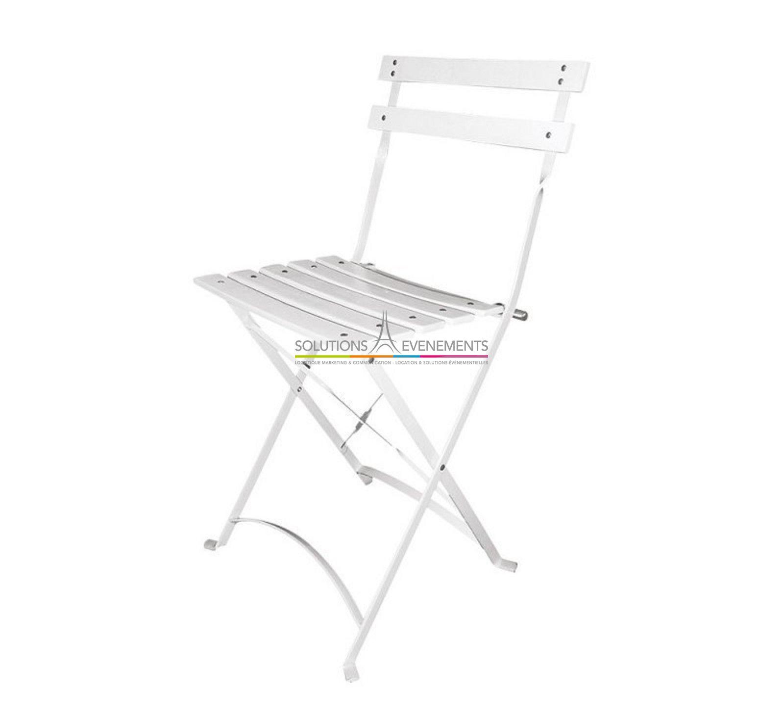 Location Chaise pliante Latte blanche Square. Evenement Int Exterieur 31559869047c