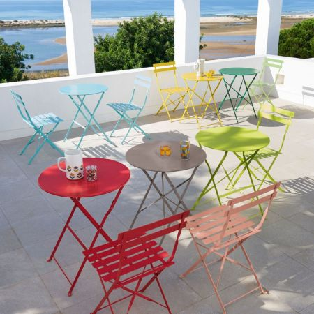 Chaise Square Lattes Vert Anis