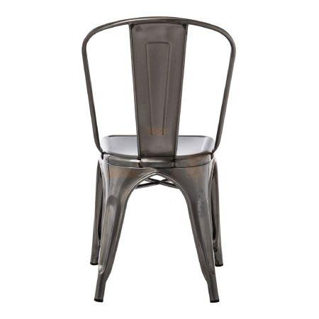 Chaise tolix industrielle acier brossé