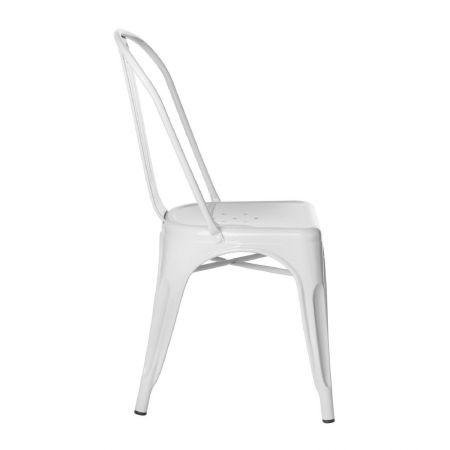 Chaise tolix industrielle blanche