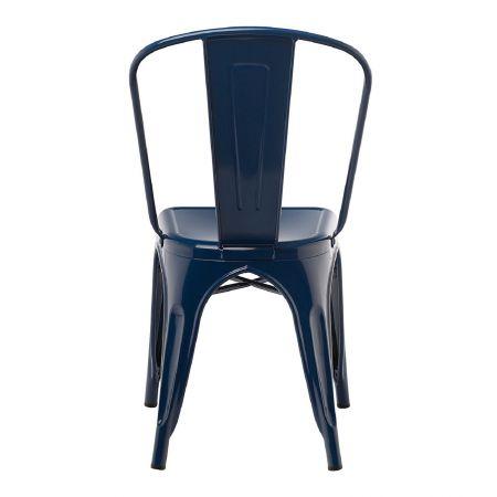 Chaise tolix industrielle bleu marine