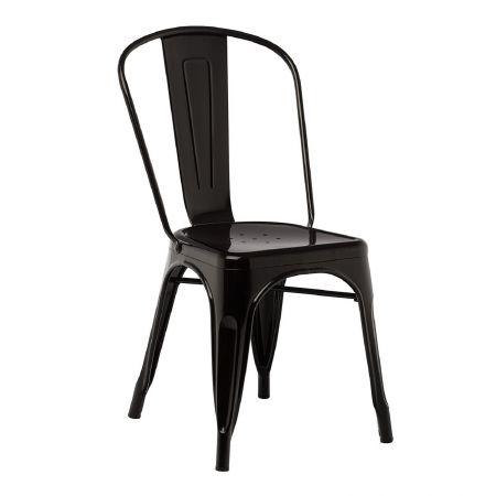 Chaise tolix industrielle noire