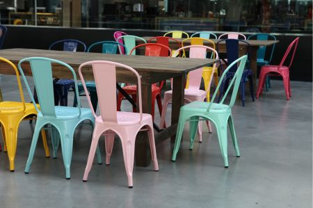 Chaise tolix industrielle vert menthe