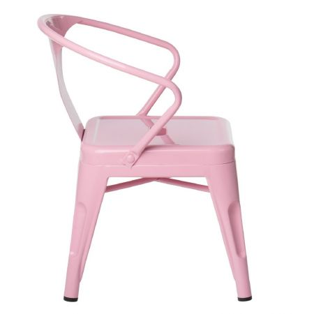 Chaise tolix kids rose