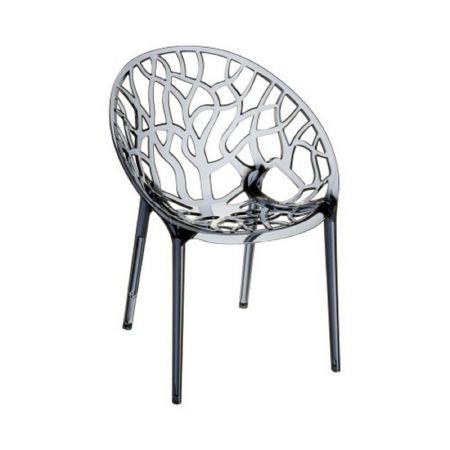 Chaise transparente Murano