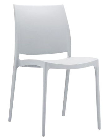 Chaise Trix gris clair
