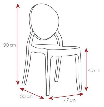 Chaise Victoire transparente
