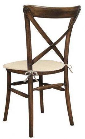 Chaise Vintage CrossBack avec coussin