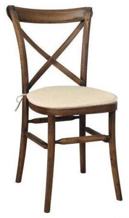 Chaise Vintage CrossBack Eco avec coussin