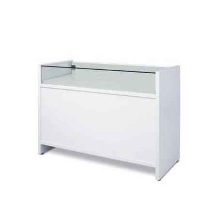Comptoir vitrine blanc