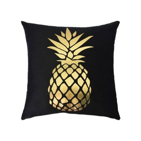 Coussin noir Ananas