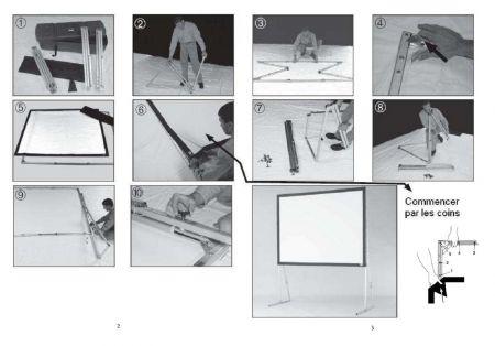 Écran de projection 3M X 2,25M (4:3)