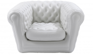 Fauteuil Blanc Chesterfield Gonflable CH-A