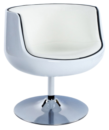Fauteuil Glossy Club blanc