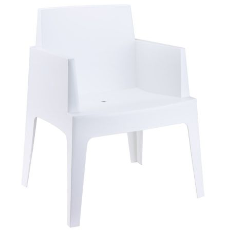 Fauteuil Lounge BLANC