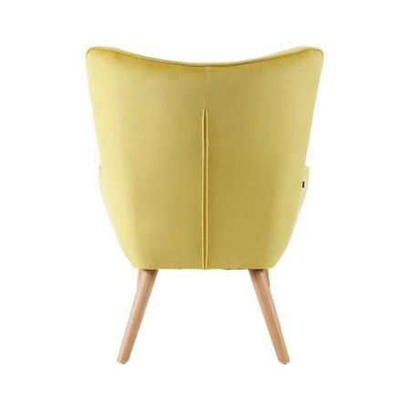Fauteuil Malmo velours jaune