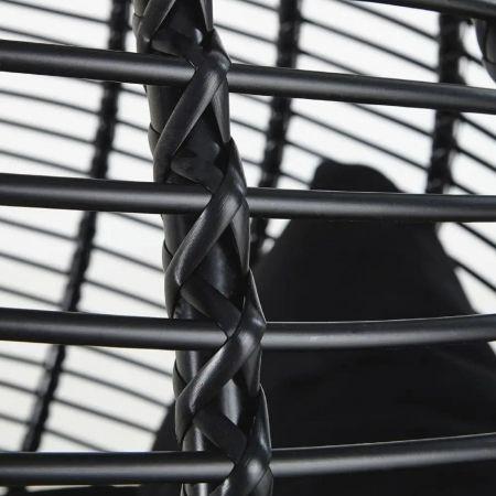 Fauteuil Panama suspendu noir