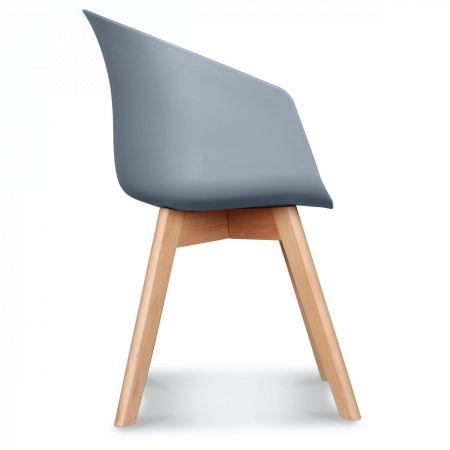 Fauteuil scandinave design gris