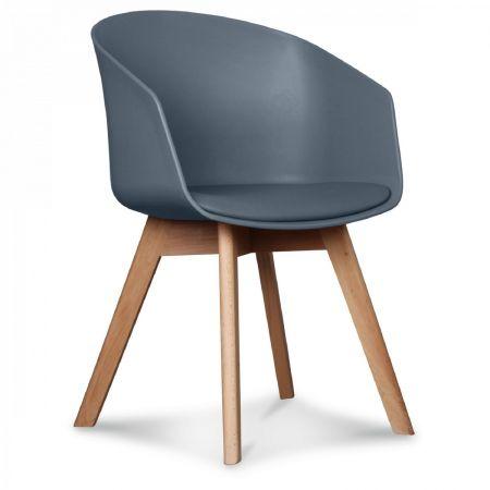 Fauteuil scandinave design gris antracite