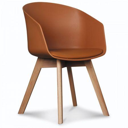 Fauteuil scandinave design marron